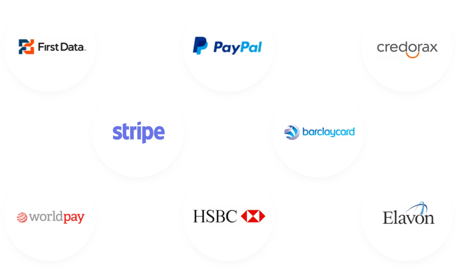 A selection of the payment gateways supported by Inn Style
